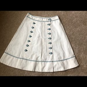 Anthropologie Skirts - Anthropologie Sitwell Nautical Skirt, Size 4 NWOT